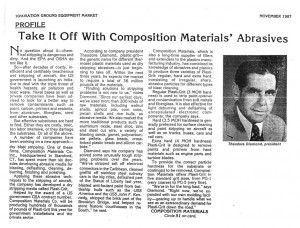 Abrasives Article November 1987 Plasti-Grit 2