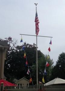 Eagle Ornament Flagpole Restored