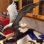 Eagle Ornament Restoration with Media Blasting